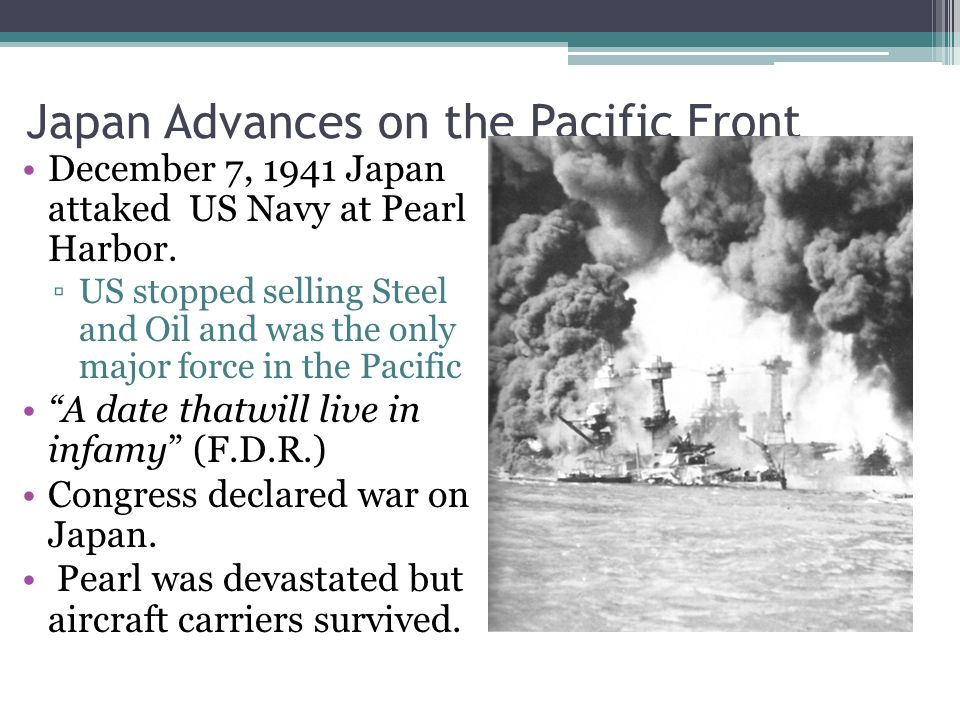 Japan Advances on the Pacific Front