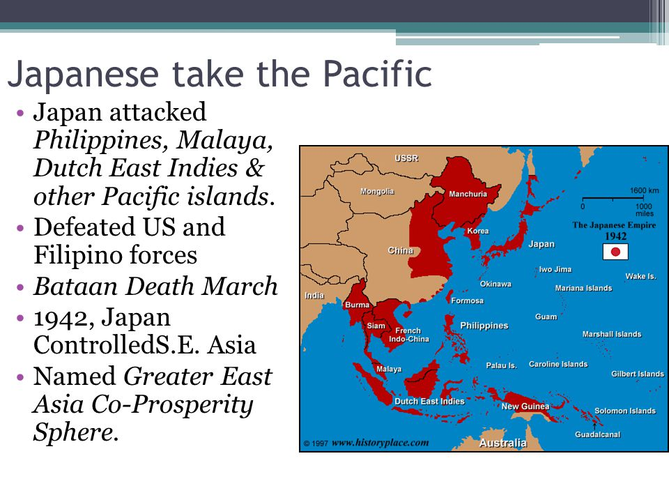 Japanese take the Pacific