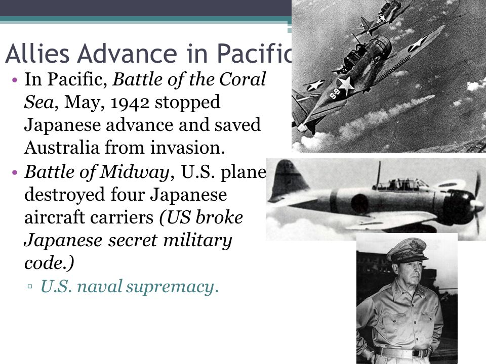 Allies Advance in Pacific
