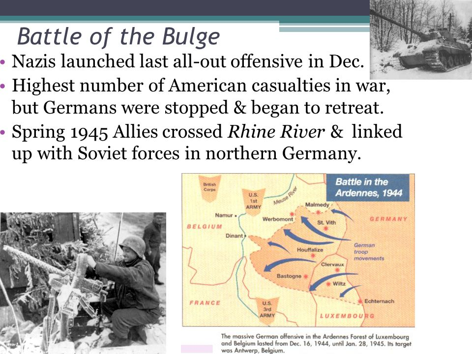 Battle of the Bulge Nazis launched last all-out offensive in Dec.