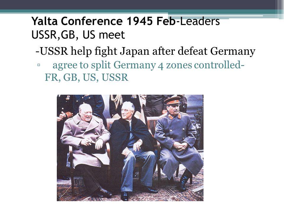 Yalta Conference 1945 Feb-Leaders USSR,GB, US meet