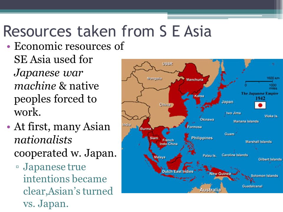 Resources taken from S E Asia