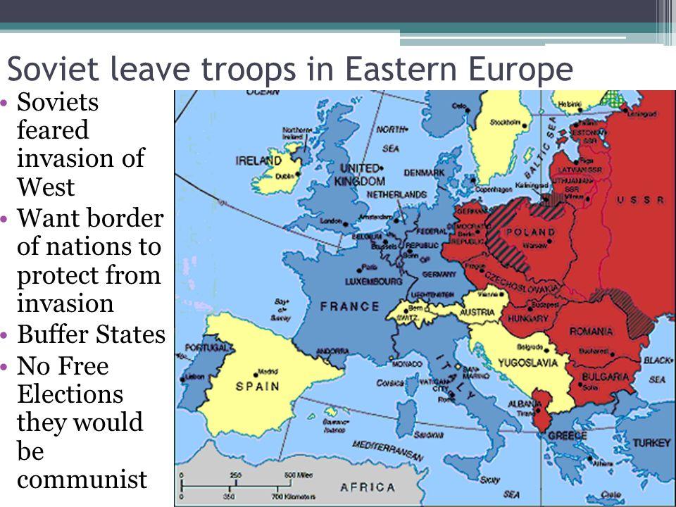Soviet leave troops in Eastern Europe