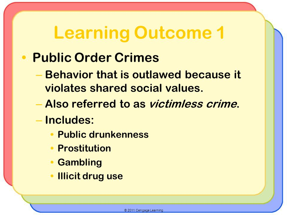 Learning Outcome 1 Public Order Crimes