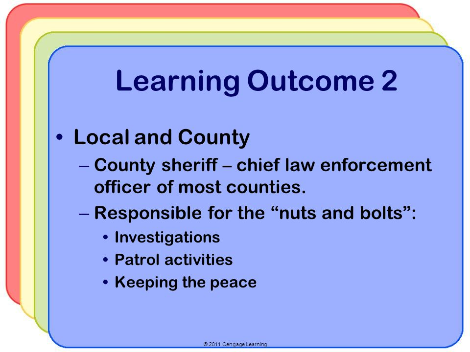 Learning Outcome 2 Local and County