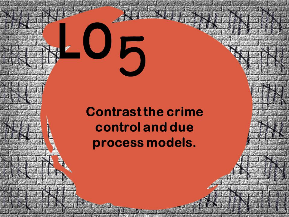 Contrast the crime control and due process models.