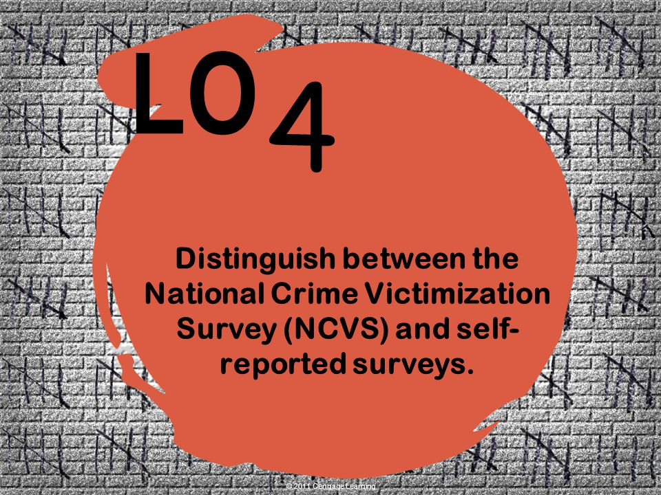 Distinguish between the National Crime Victimization Survey (NCVS) and self-reported surveys.