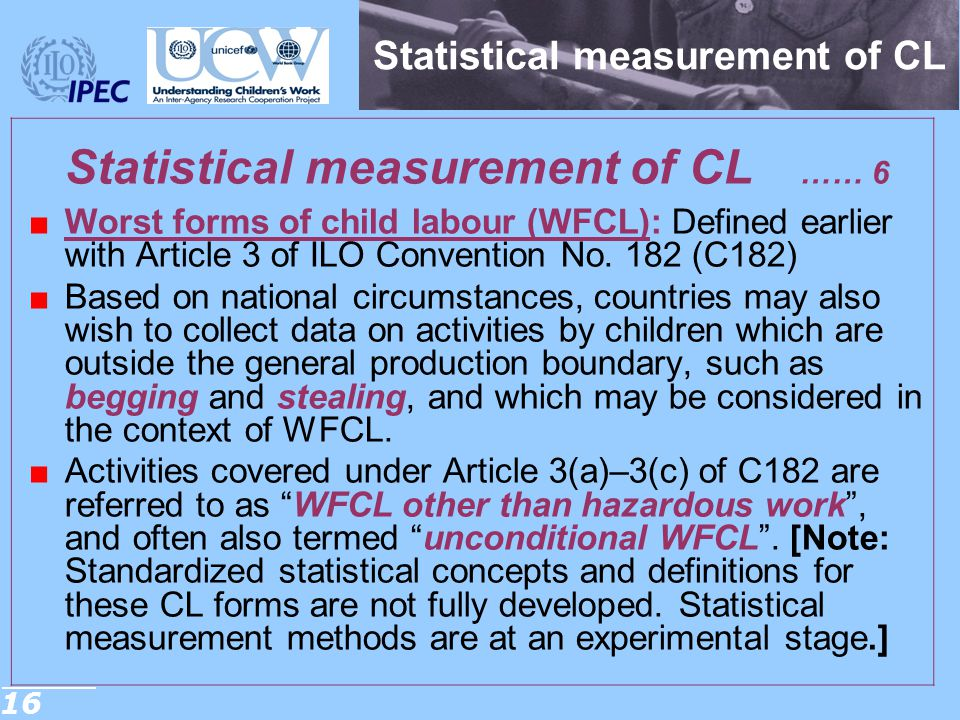 Statistical measurement of CL