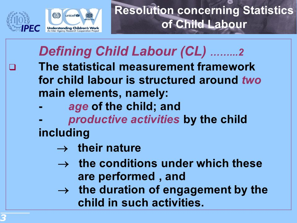 Resolution concerning Statistics of Child Labour