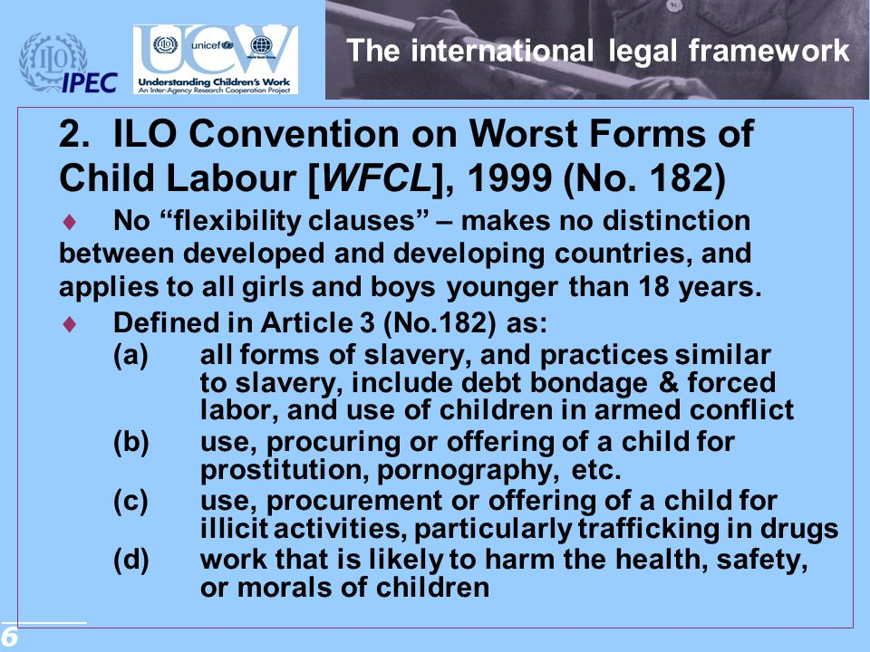 The international legal framework