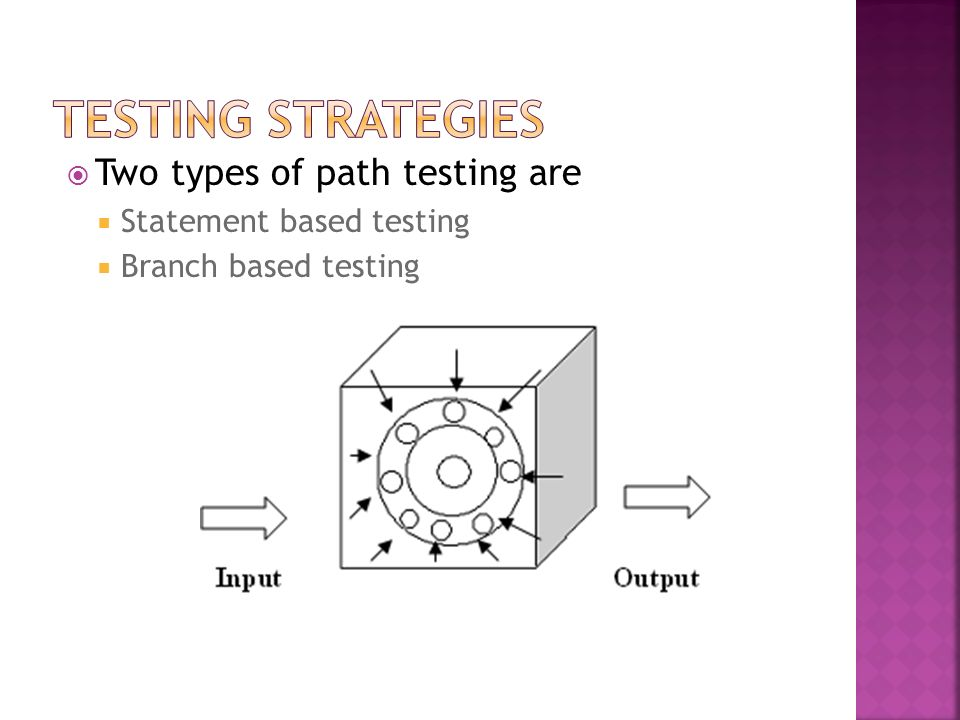 Testing Strategies Two types of path testing are