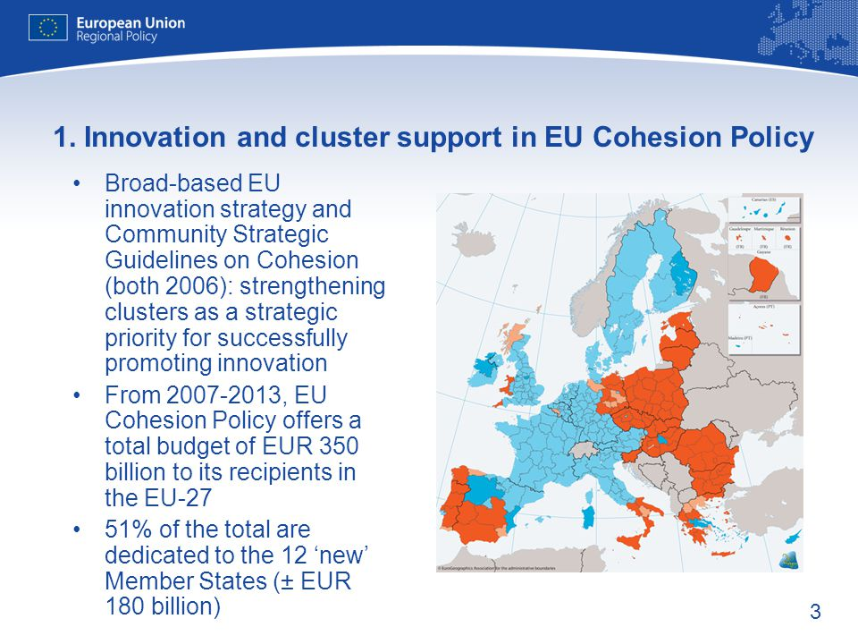 1. Innovation and cluster support in EU Cohesion Policy