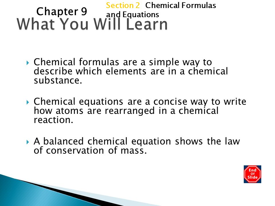 What You Will Learn Chapter 9