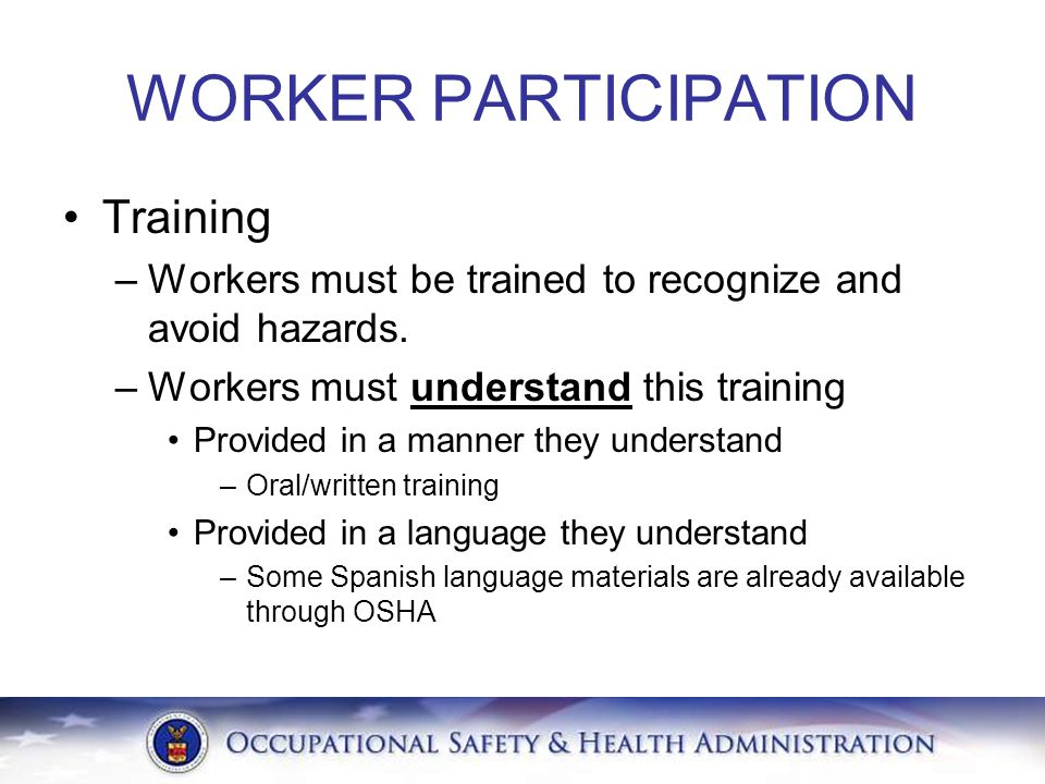 WORKER PARTICIPATION Training