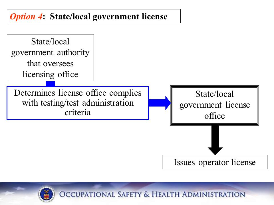 Option 4: State/local government license