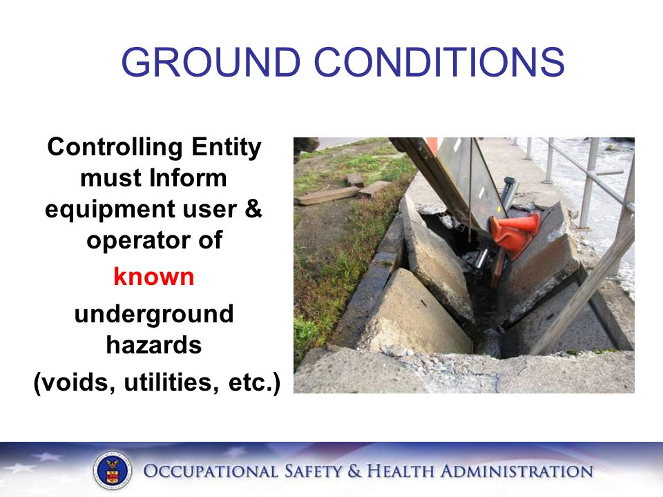 Controlling Entity must Inform equipment user & operator of
