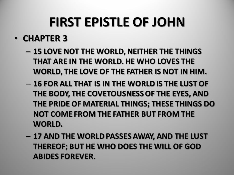 FIRST EPISTLE OF JOHN CHAPTER 3