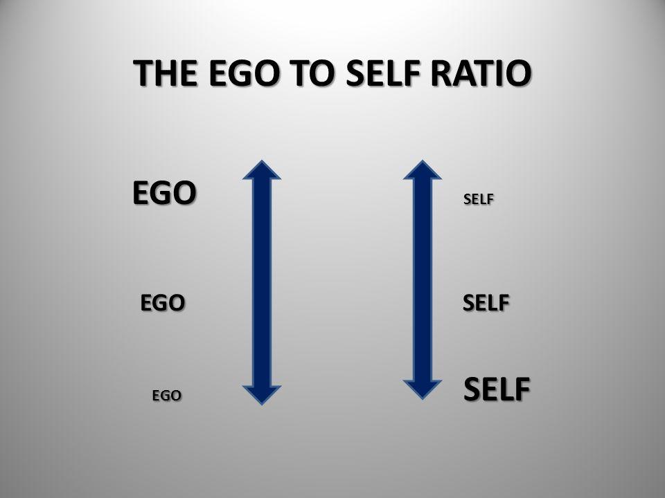 THE EGO TO SELF RATIO EGO SELF. EGO SELF.