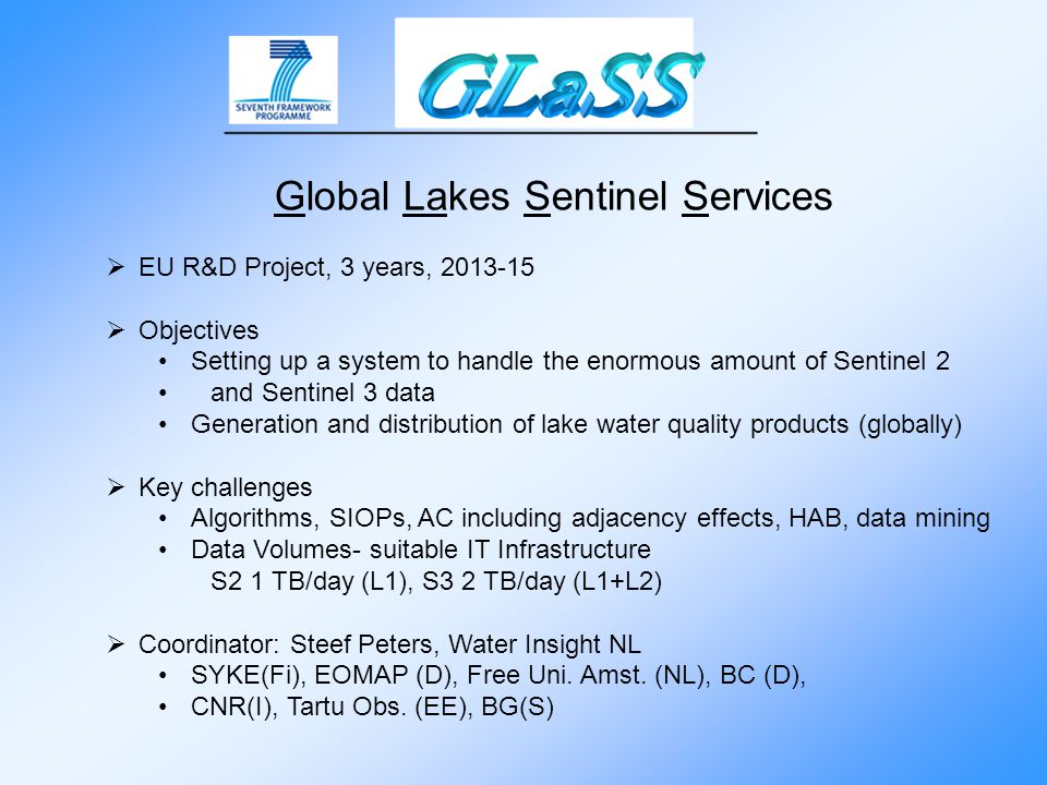 Global Lakes Sentinel Services