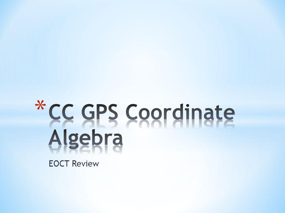 CC GPS Coordinate Algebra