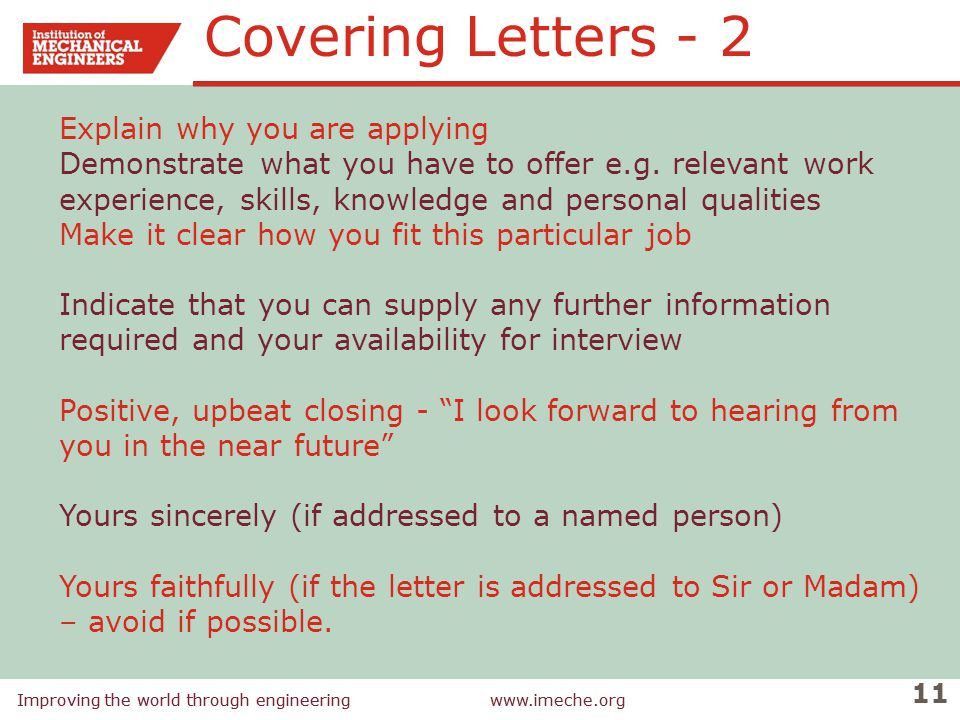 Covering Letters - 2