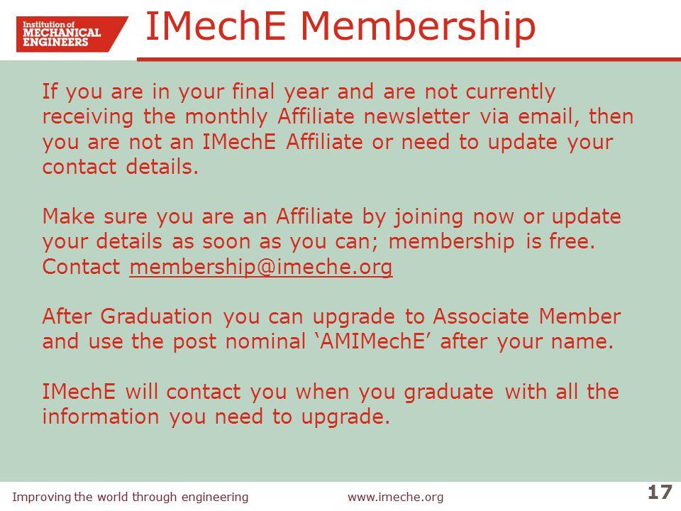 IMechE Membership