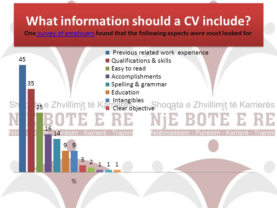 What information should a CV include