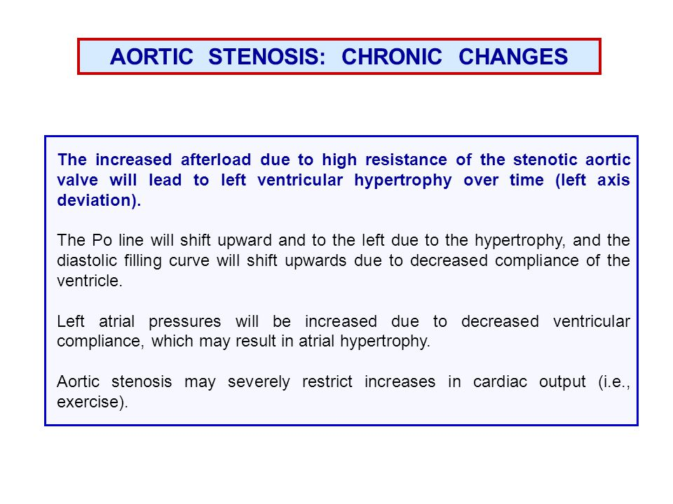 AORTIC STENOSIS: CHRONIC CHANGES