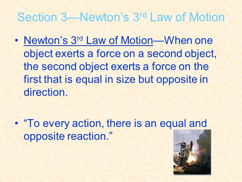 Section 3—Newton's 3rd Law of Motion
