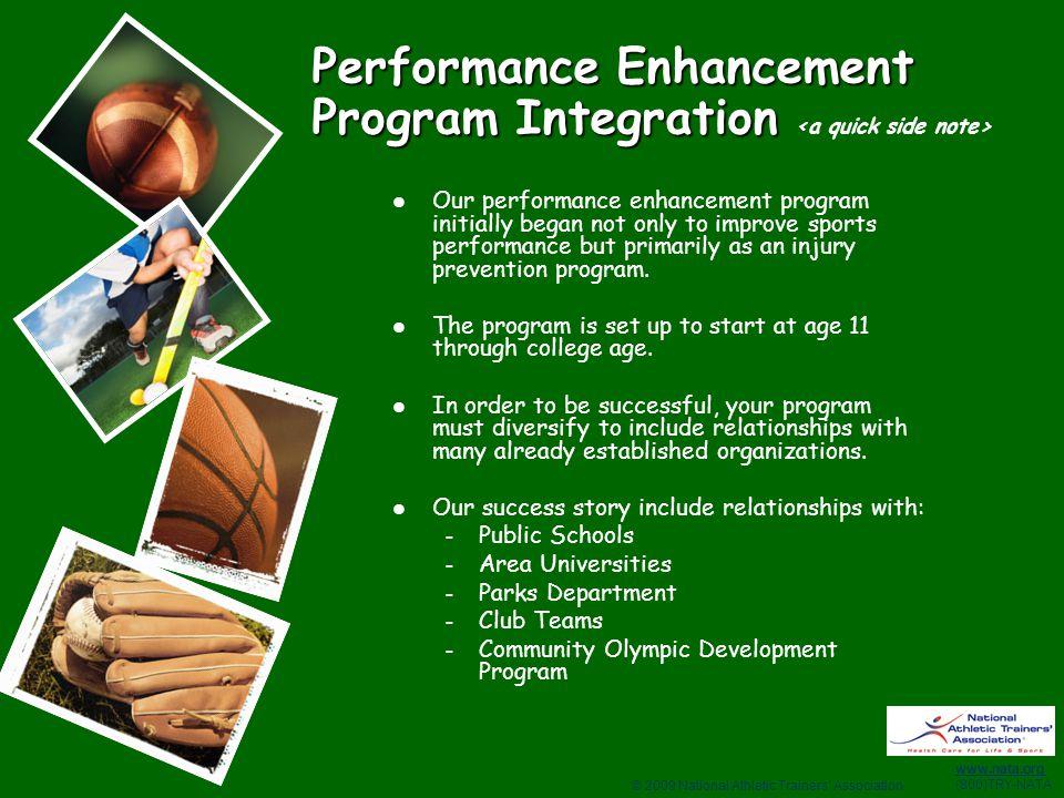 Performance Enhancement Program Integration <a quick side note>