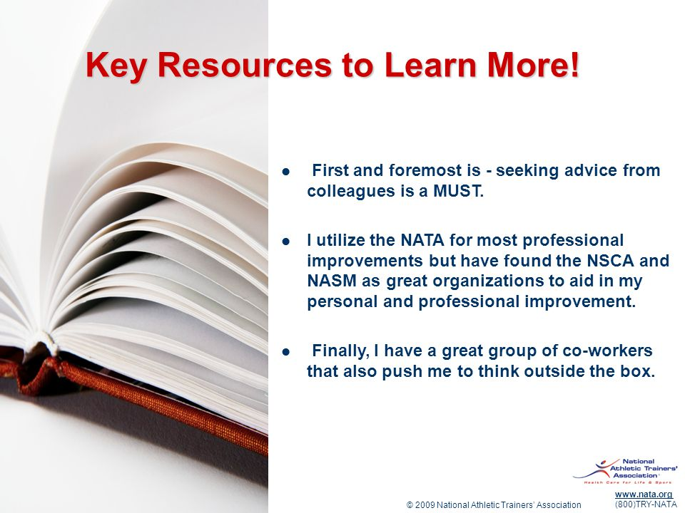Key Resources to Learn More!