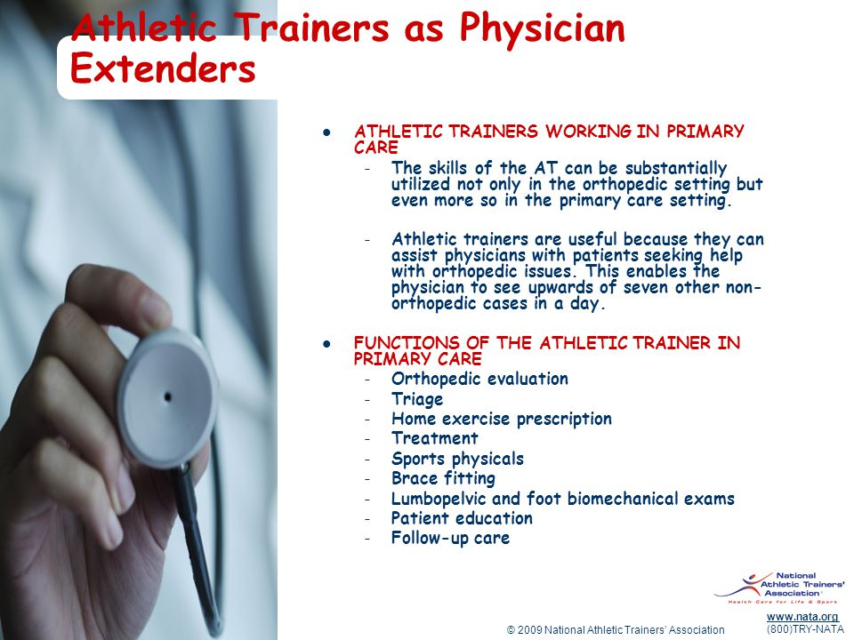 Athletic Trainers as Physician Extenders