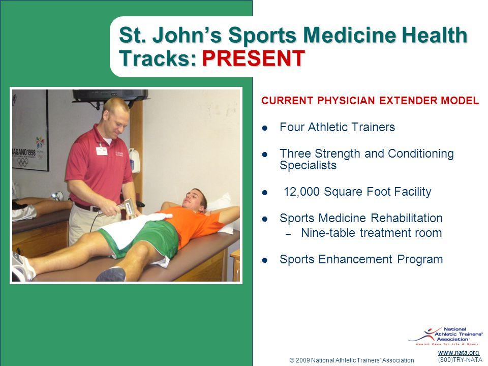 St. John's Sports Medicine Health Tracks: PRESENT