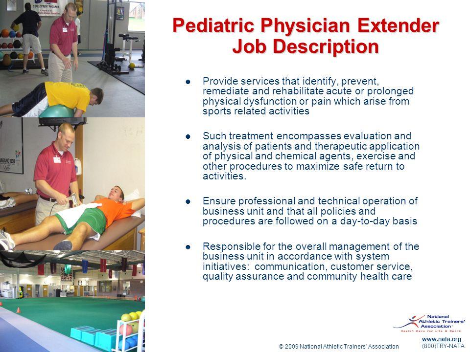 Pediatric Physician Extender Job Description