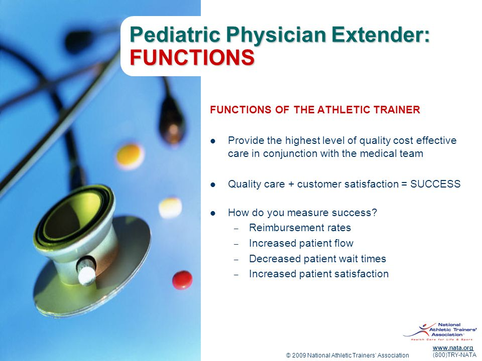 Pediatric Physician Extender: FUNCTIONS