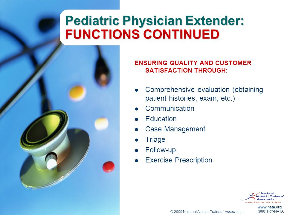 Pediatric Physician Extender: FUNCTIONS CONTINUED
