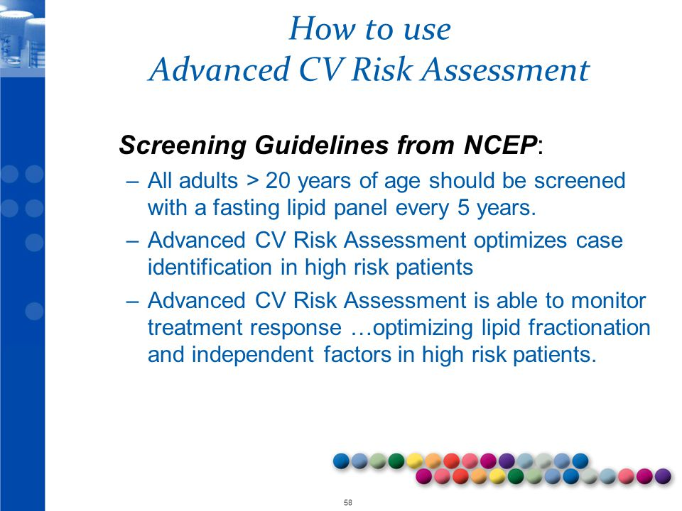 How to use Advanced CV Risk Assessment