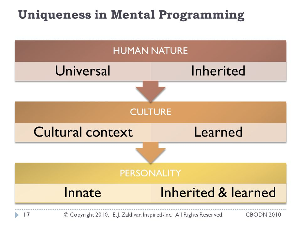 Uniqueness in Mental Programming