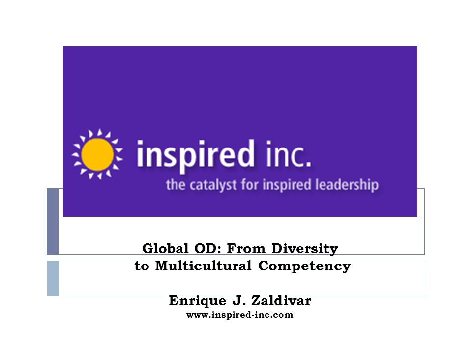 Global OD: From Diversity to Multicultural Competency Enrique J
