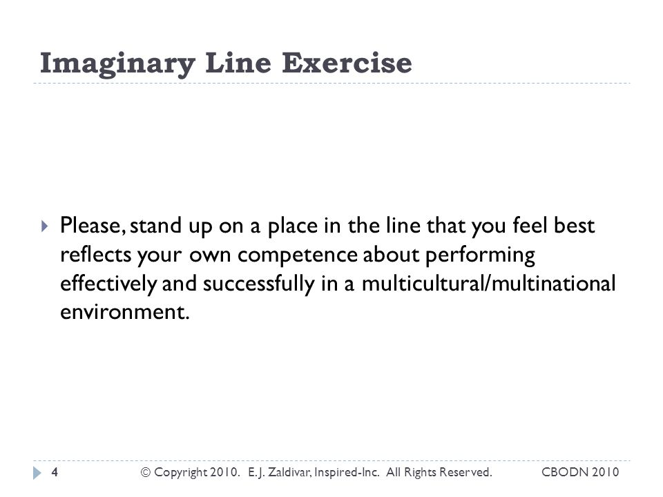Imaginary Line Exercise