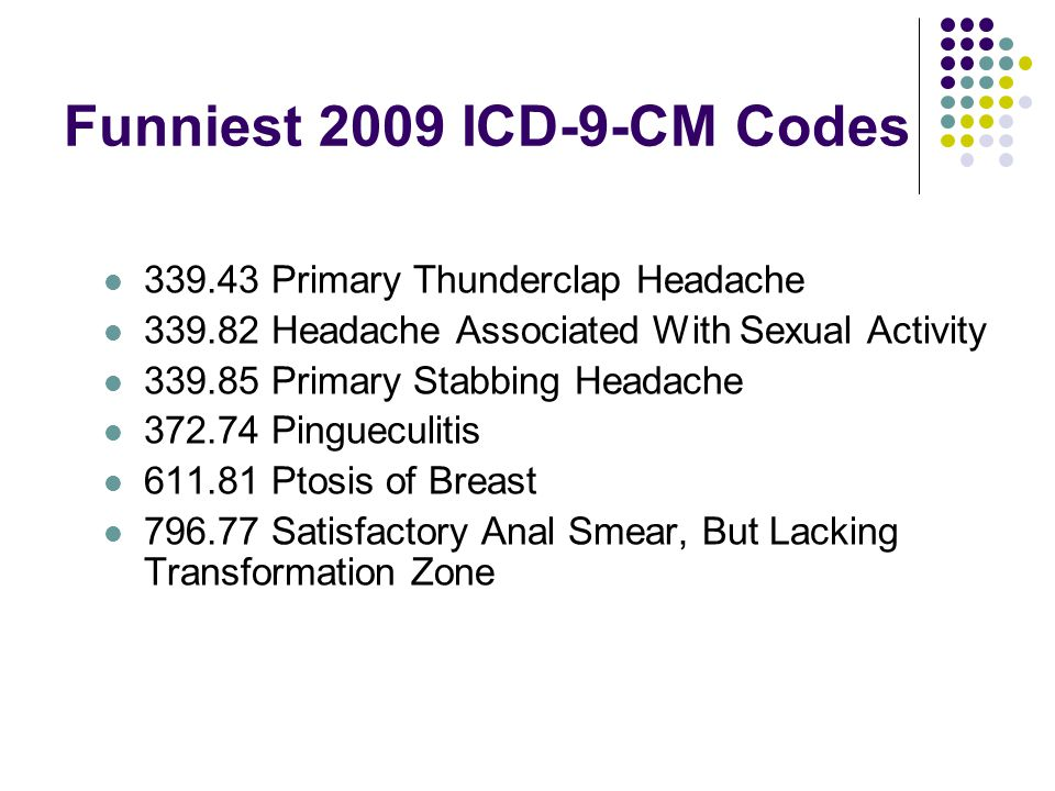 Funniest 2009 ICD-9-CM Codes