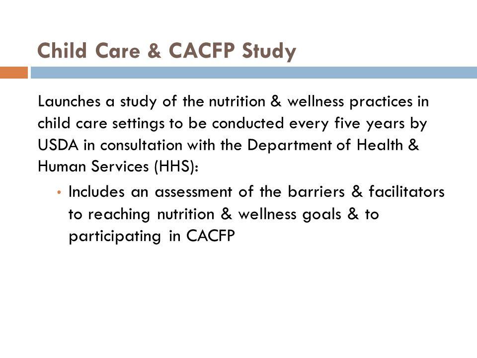 Child Care & CACFP Study