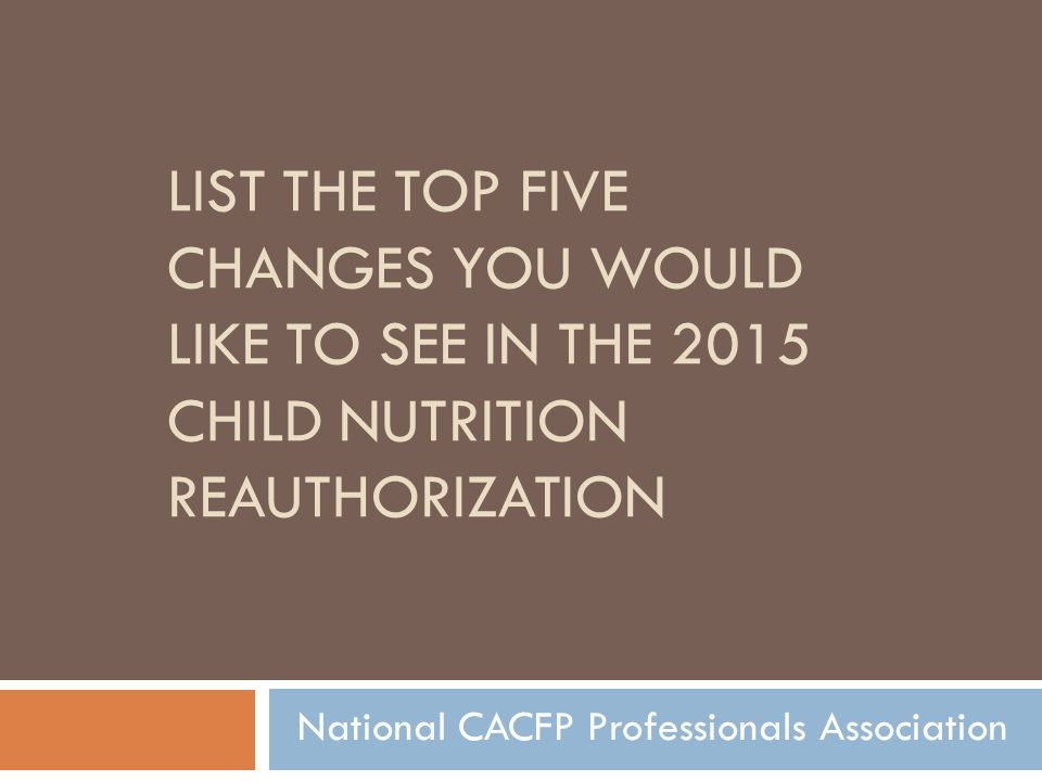National CACFP Professionals Association