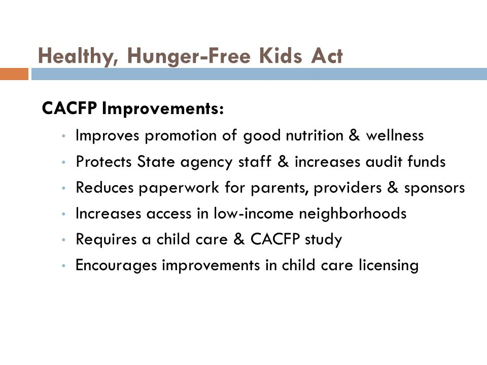 Healthy, Hunger-Free Kids Act
