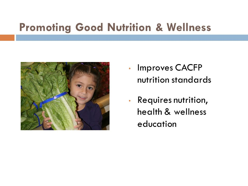 Promoting Good Nutrition & Wellness