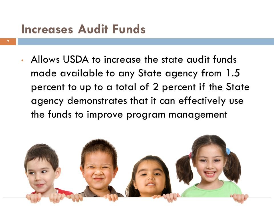 Increases Audit Funds