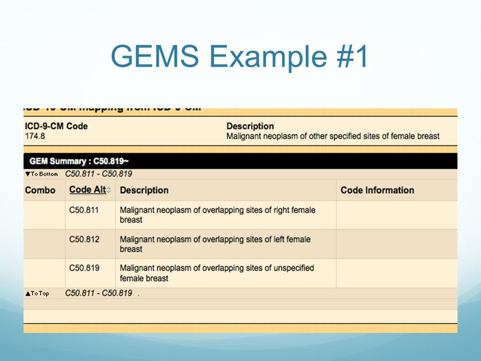 GEMS Example #1