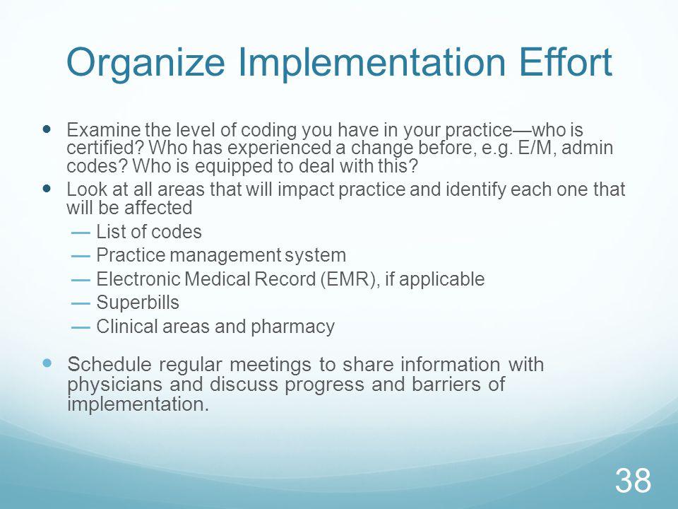 Organize Implementation Effort