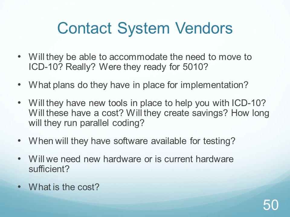 Contact System Vendors