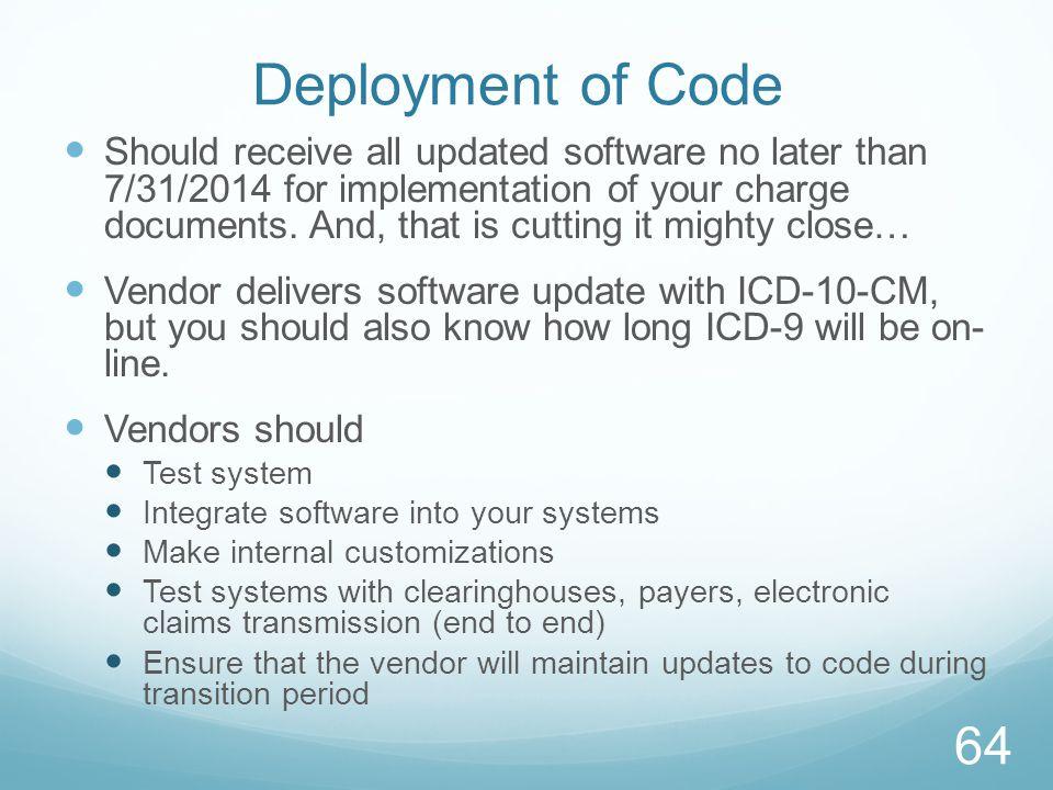 Deployment of Code